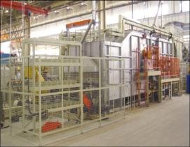 连续式无料筐铝合金热处理炉